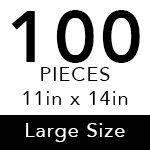 Large Size - 100 Pieces ($10.95)